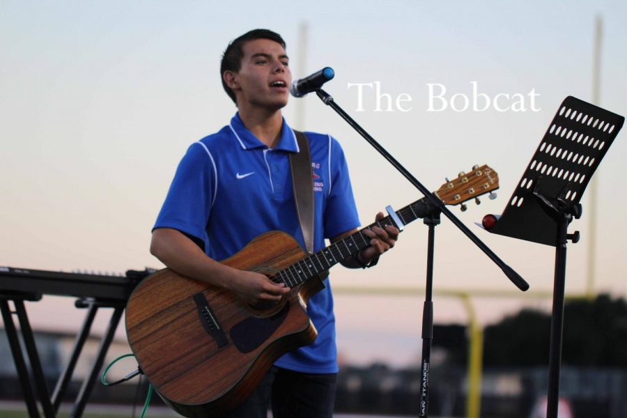 Junior, Matthew Anaya sings a song dedicated to his brother during Fields of Faith.