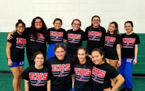 Girls Powerlifting Team at Regionals