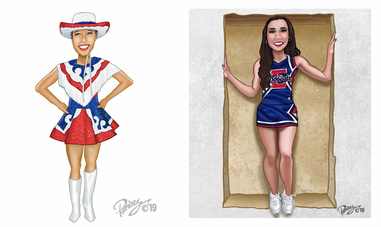 Sergeanette, Victoria Venegas, Junior Cheerleader, Alexandra Ramirez, Senior