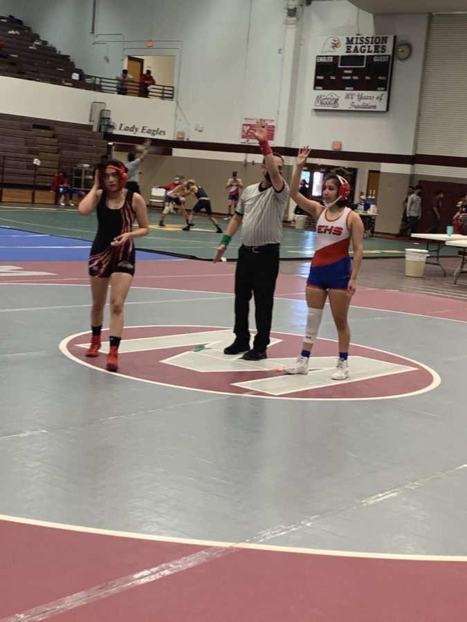 Baby Lopez is District Champion in Wrestling competition